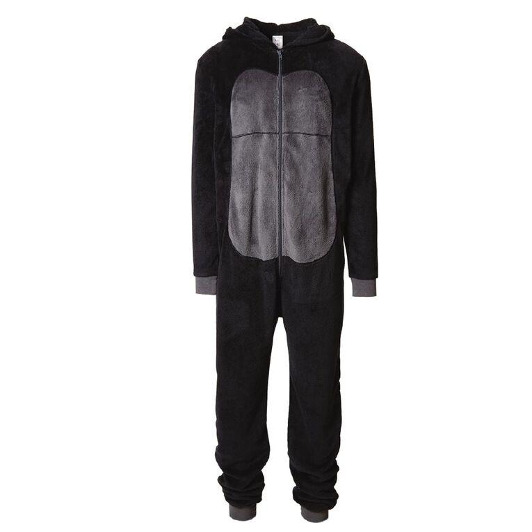 H&H Men's Gorilla Onesie, Black, hi-res