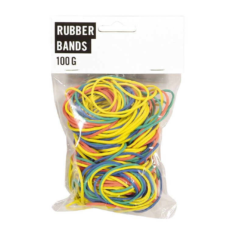 Necessities Brand Rubber Bands 100g, , hi-res