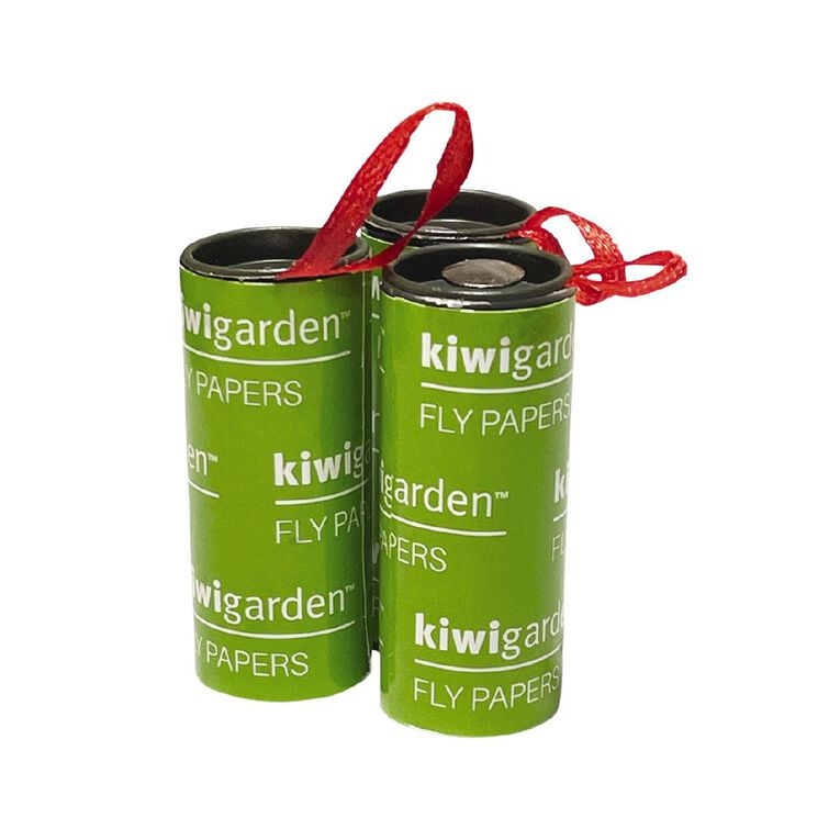 Kiwi Garden Fly Paper Sticky Trap Roll 8 Pack, , hi-res