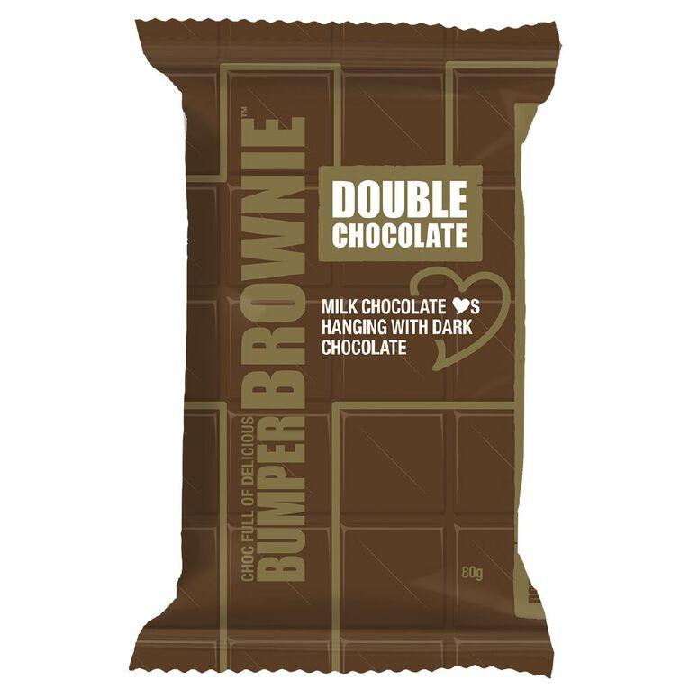 Bumper Bars Double Chocolate Brownie Slice, , hi-res