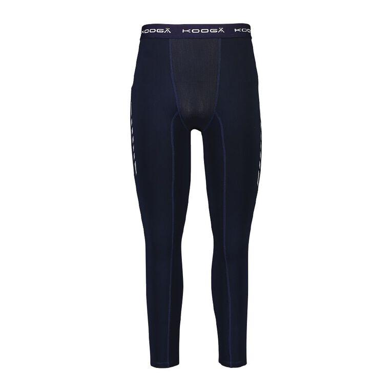 Kooga Men's Compression Pants, Blue Dark, hi-res