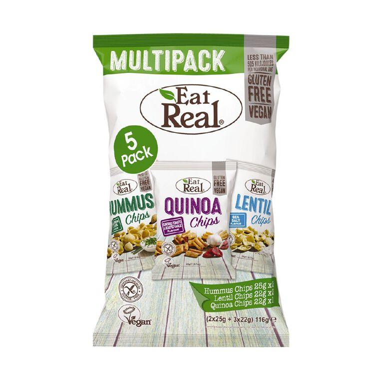 Eat Real Hummus Lentil Quinoa Multi-pack 116g, , hi-res