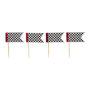 Party Inc Checkered Flag Cupcake Toppers 12 Pack