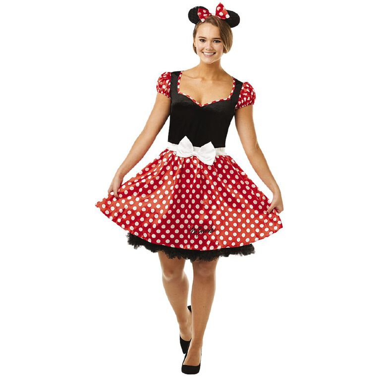 Minnie Mouse Adult Sassy Costume - Size M, , hi-res