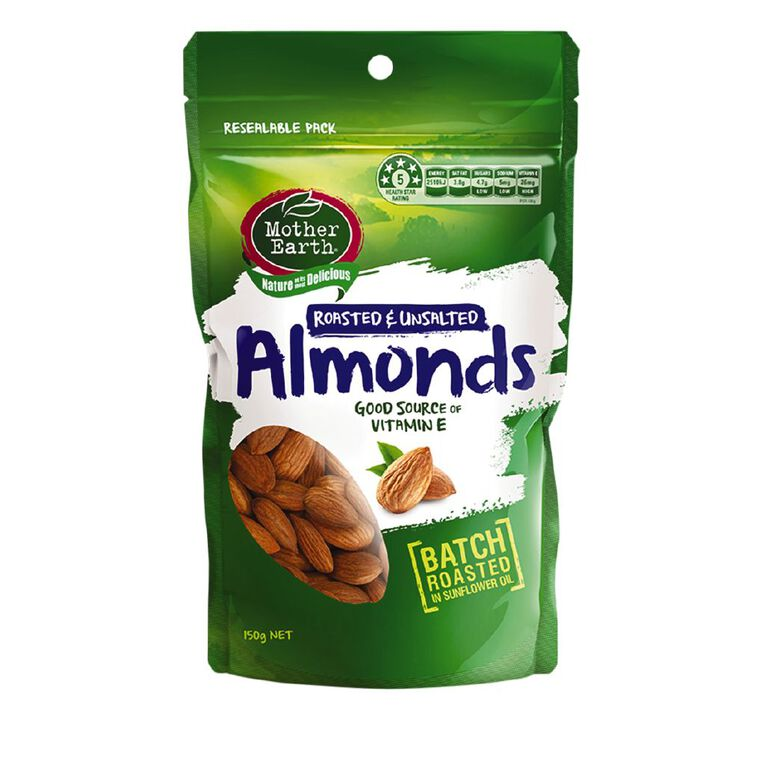 Mother Earth Almonds Roasted 150g, , hi-res