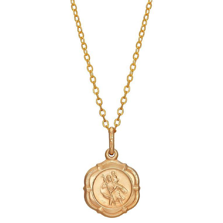 9ct Gold St Christopher Pendant, , hi-res