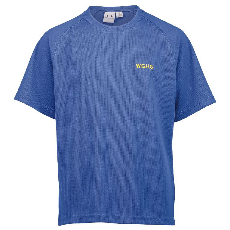 Schooltex Whangarei Girls' High Sport Tee with Embroidery, Royal, hi-res