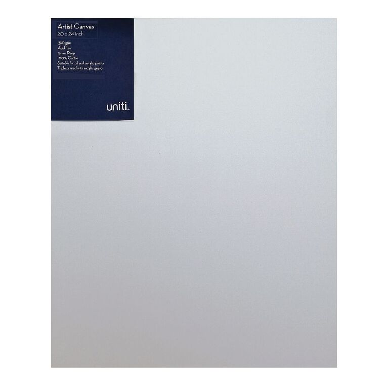 Uniti Blank Canvas 280gsm (20in x 24in) 50cm x 60cm, , hi-res image number null