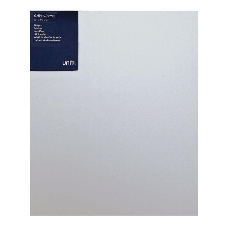 Uniti Blank Canvas 280gsm (20in x 24in) 50cm x 60cm, , hi-res