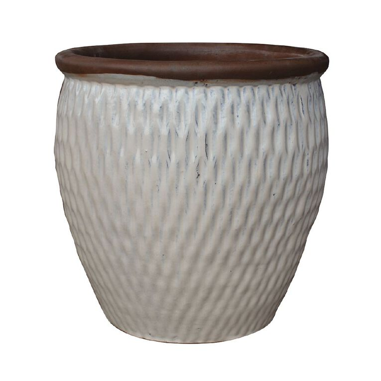 Kiwi Garden Glazed Terracotta Pot 29cm, , hi-res