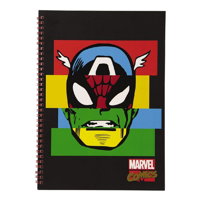 Marvel Kids Avengers Face Notebook Red A4, , hi-res