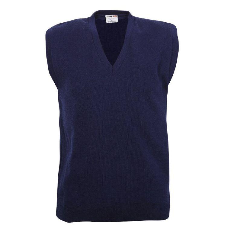 Schooltex Wool Vest, Dark Royal, hi-res
