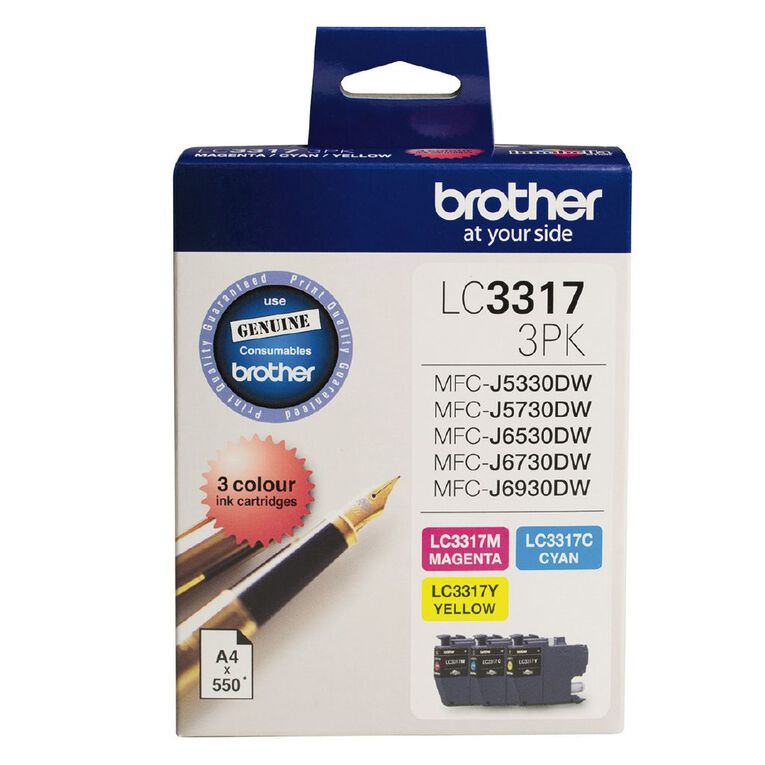 Brother Ink LC3317 Colour 3 Pack, , hi-res