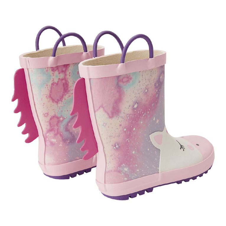 Young Original Kids' Galaxy Gumboots, Purple/Pink, hi-res