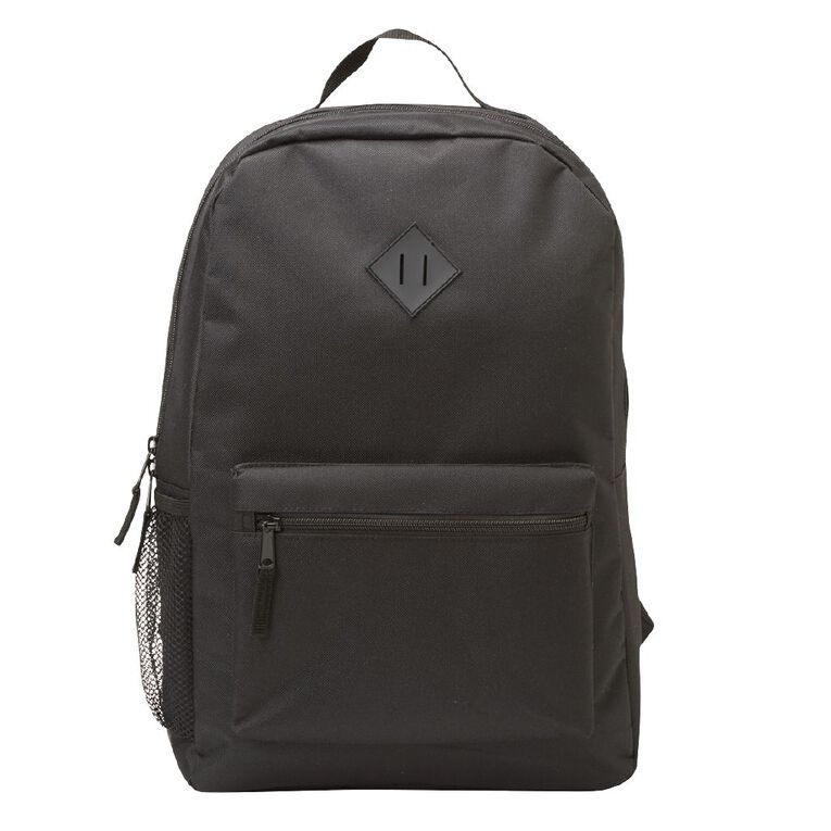 H&H Senior Plain Backpack, Black, hi-res