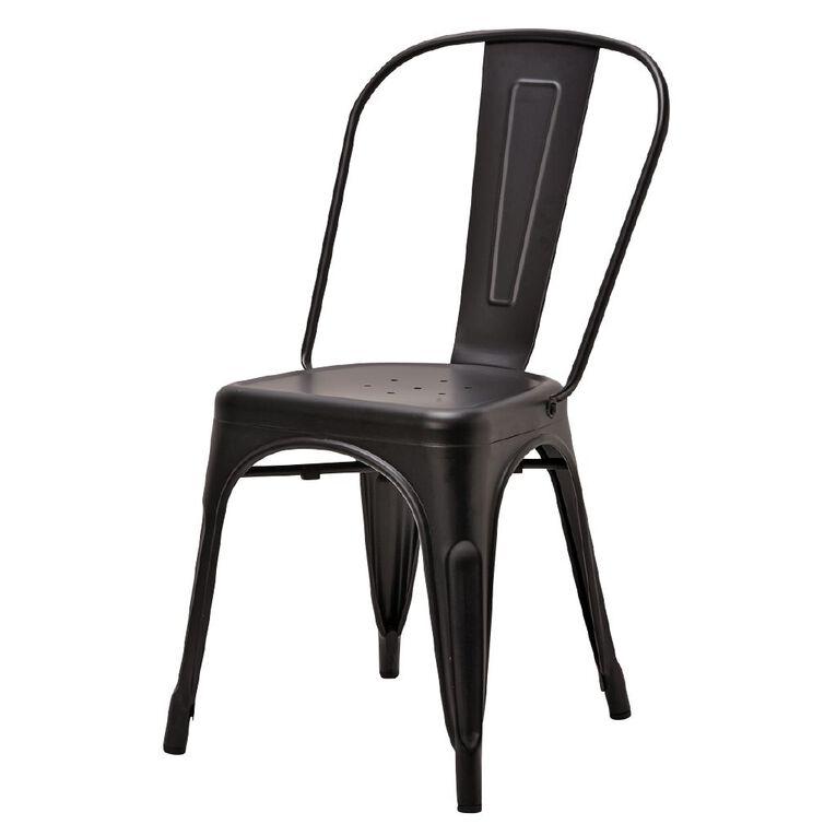 Living & Co Dining Chair Metal Matte Black, , hi-res