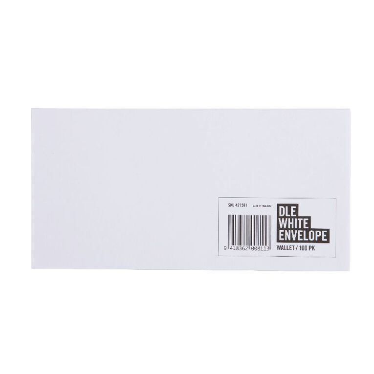 No Brand Envelope DLE 100 Pack, , hi-res