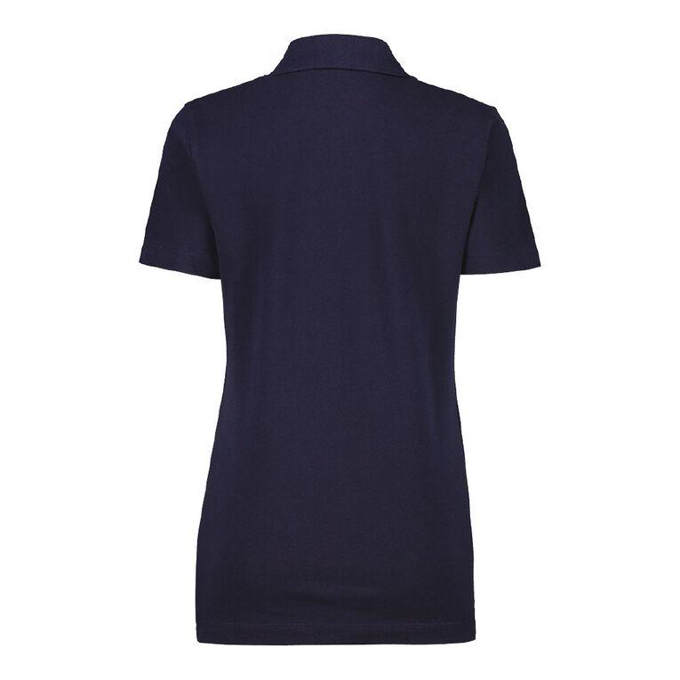 Pickaberry Women's Pique Polo, Blue Dark, hi-res