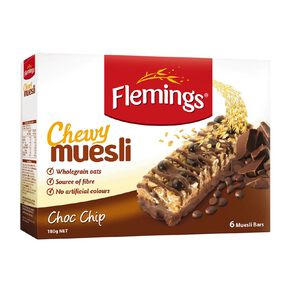 Flemings Chewy Muesli Choc Chip 180g