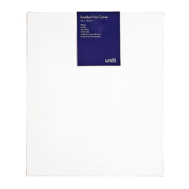 Uniti Blank Canvas 280gsm (10in x 12in) 25cm x 30cm, , hi-res