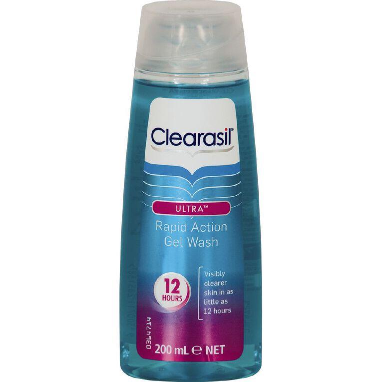 Clearasil Rapid Action Gel Wash 200ml, , hi-res