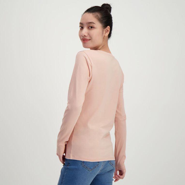 H&H Women's Long Sleeve V Neck, Pink, hi-res