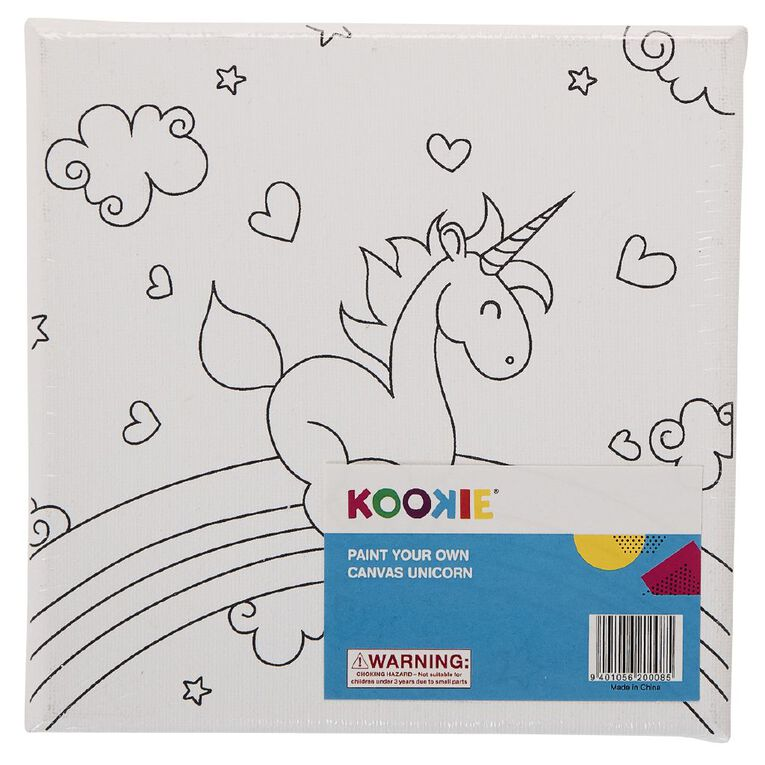 Kookie Paint Your Own Canvas Unicorn Small, , hi-res