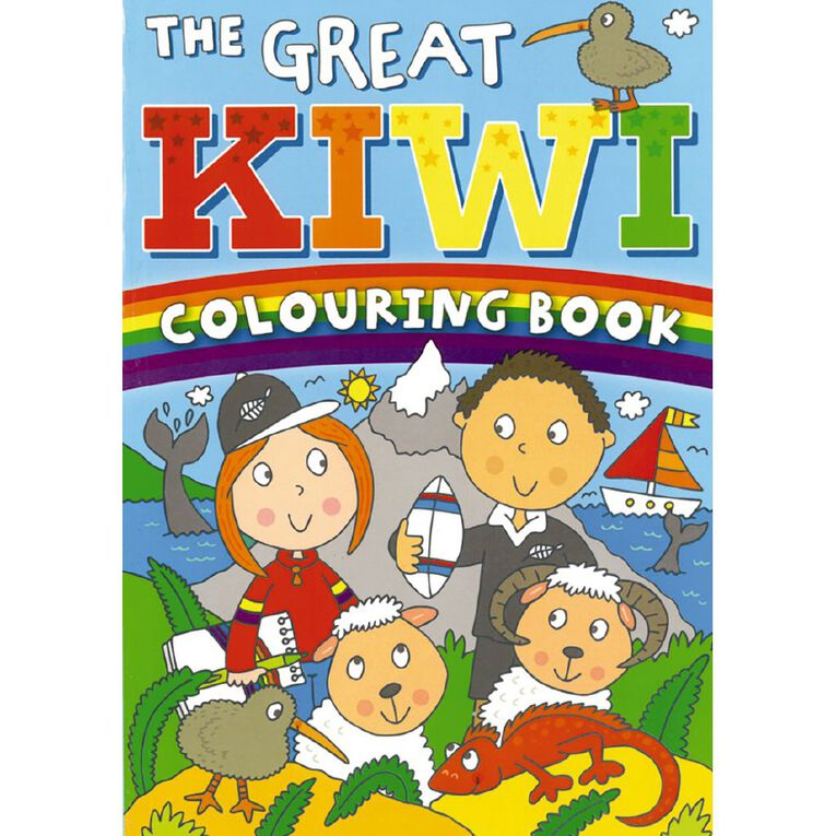 The Great Kiwi Colouring Book, , hi-res
