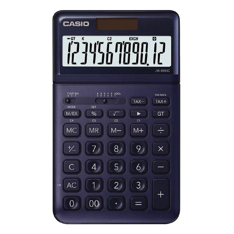 Casio JW200SCNY Desktop 12 Digit Calculator Stylish Navy, , hi-res