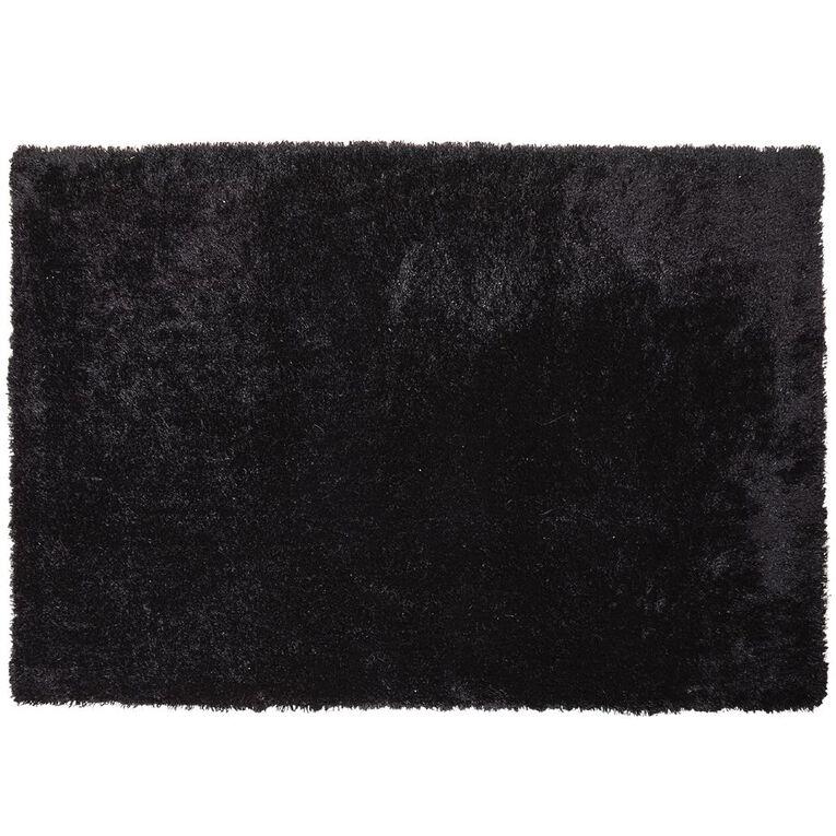 Living & Co Brooklyn Large Rug Black 150cm x 220cm, Black, hi-res