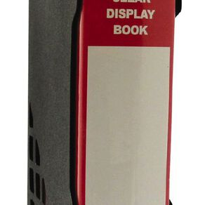 GBP Stationery Red 100 Pocket Display Book With Black Case A4