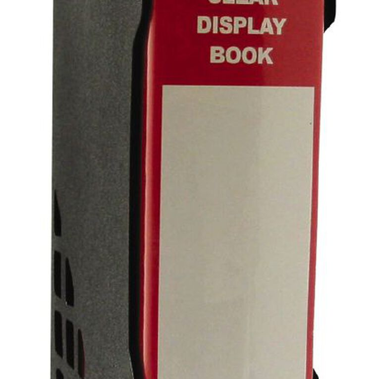 GBP Stationery Red 100 Pocket Display Book With Black Case A4, , hi-res