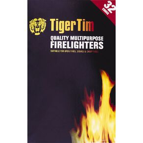 Tiger Tims Natural Firelighters 32 Pack