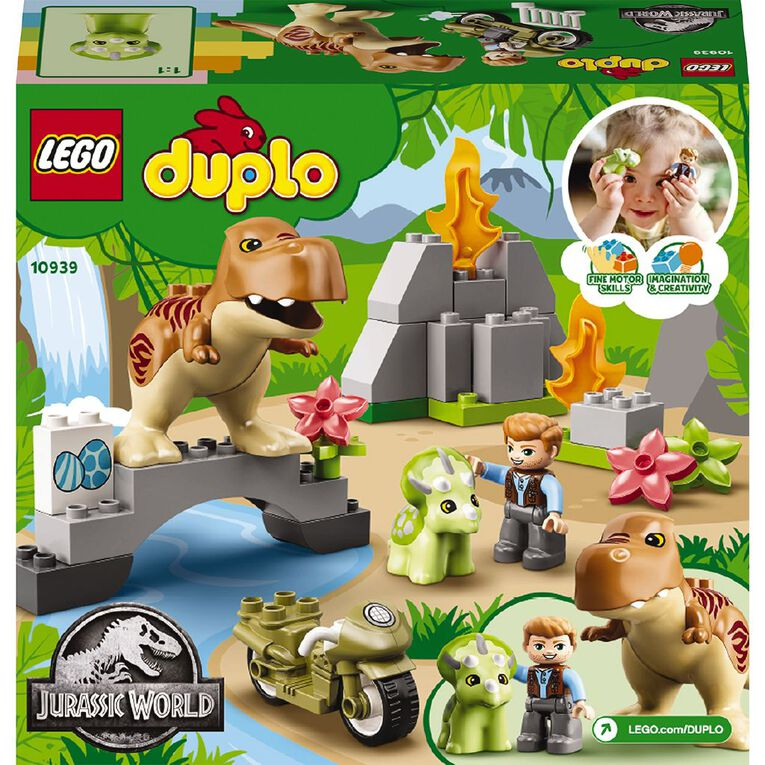 LEGO DUPLO T.Rex and Triceratops Dinosaur Breakout 10939, , hi-res