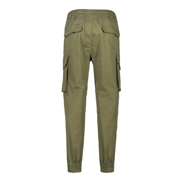 H&H Men's Woven Cargo Jogger Pants, Khaki, hi-res