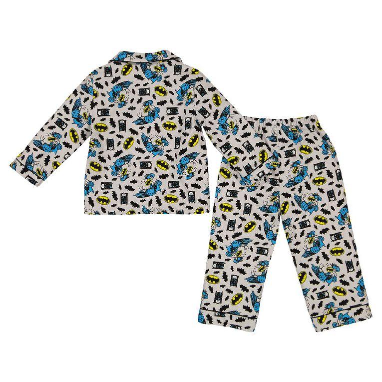 Batman Kids's Flannalette Pyjamas, Grey, hi-res