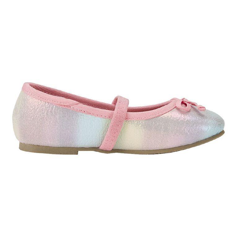 Young Original Kids' Rainbow Ballet Shoes, Pink Light, hi-res