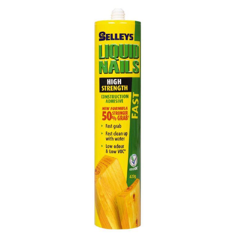 Selleys Liquid Nails Fast Grab 420g, , hi-res