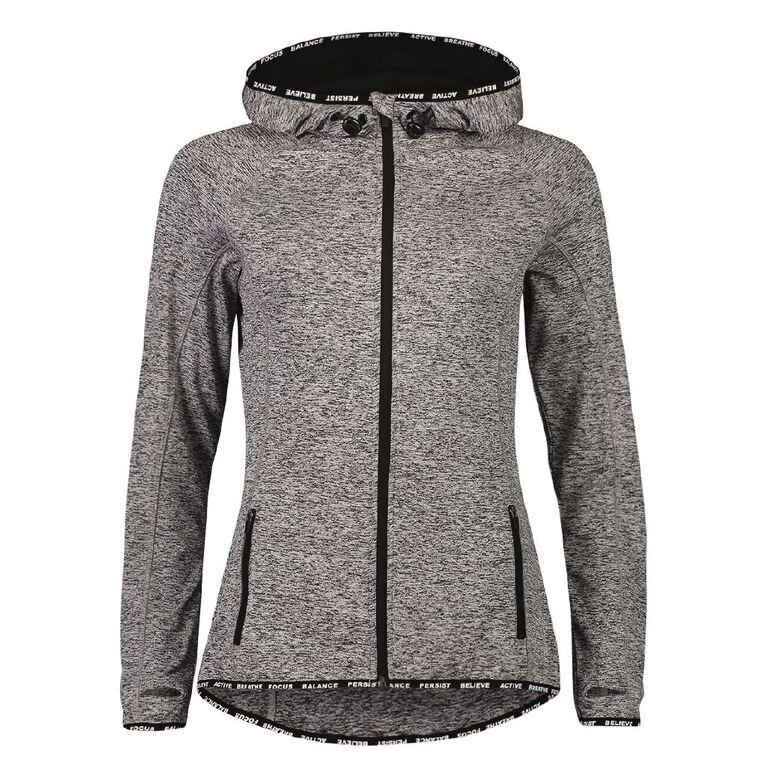 Active Intent Women's Slogan Elastic Detail Sweatshirt, Grey Marle, hi-res