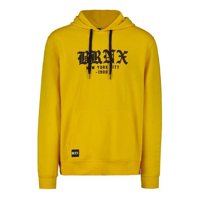 Garage Men's Hooded Puff Print Sweatshirt, Yellow, hi-res