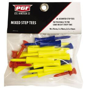 PGF Step Tees Mixed Sizes 20 Pack
