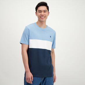 H&H Men's Colour Block Crew Tshirt