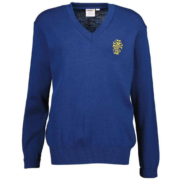 Schooltex Marcellin Jersey with Embroidery, Fielding Blue, hi-res