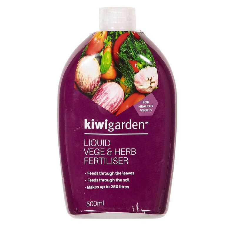 Kiwi Garden Liquid Vege & Herb Fertiliser 500ml, , hi-res
