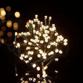 Wonderland Plug-in String Lights 17.5m Dark Wire Warm White 200 LED