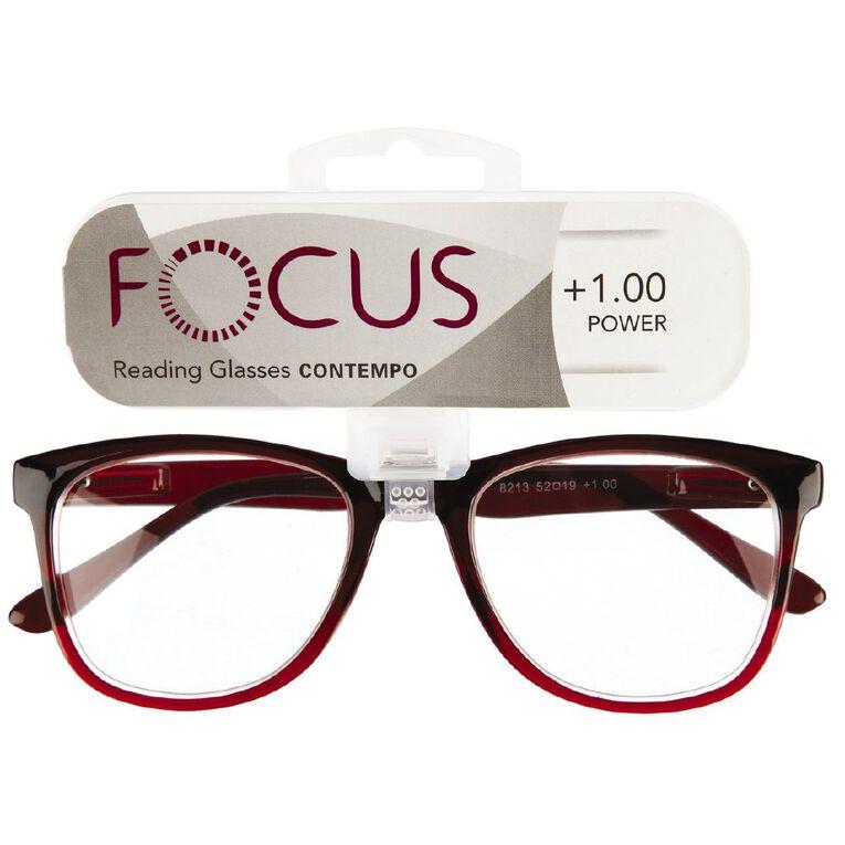Focus Reading Glasses Contempo 1.00, , hi-res