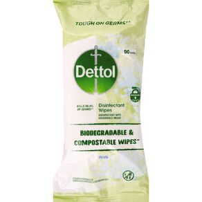Dettol Biodegradable Disinfectant Wipes Fresh 90 Pack