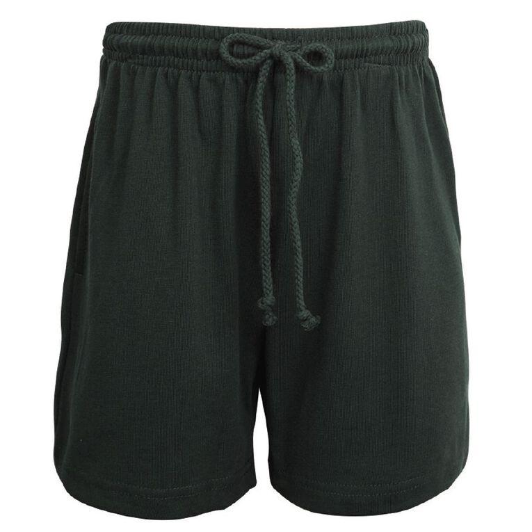 Schooltex Kids' Long Length Knit Shorts, Bottle Green, hi-res