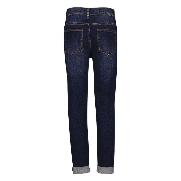 Young Original Distressed Roll Hem Jeans, Denim Mid, hi-res