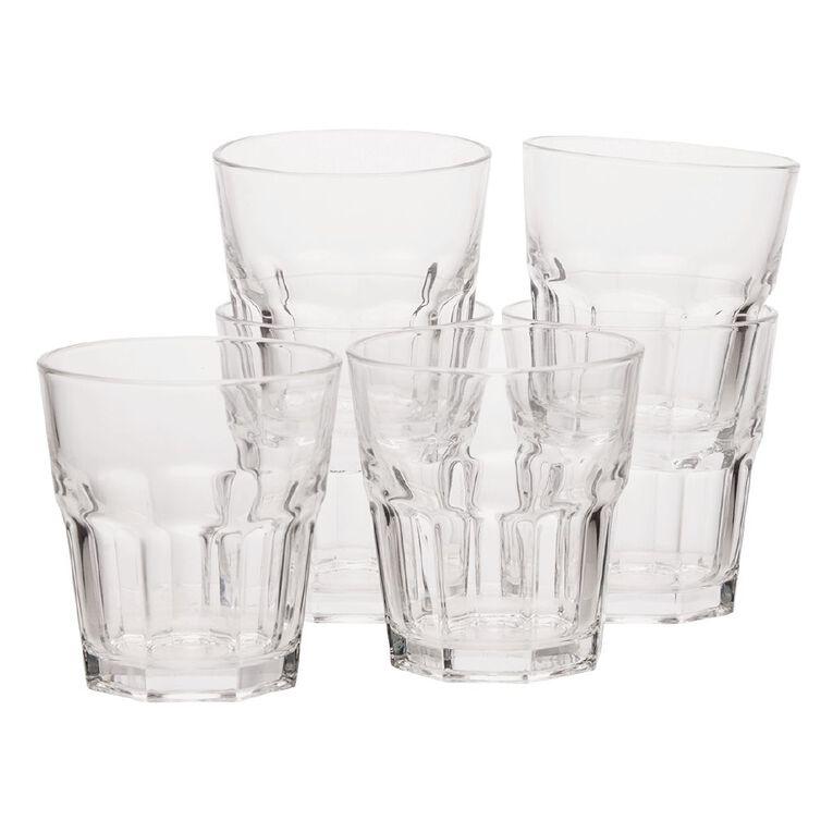 Living & Co Bistro Short Glass Tumbler 6 Pack, , hi-res